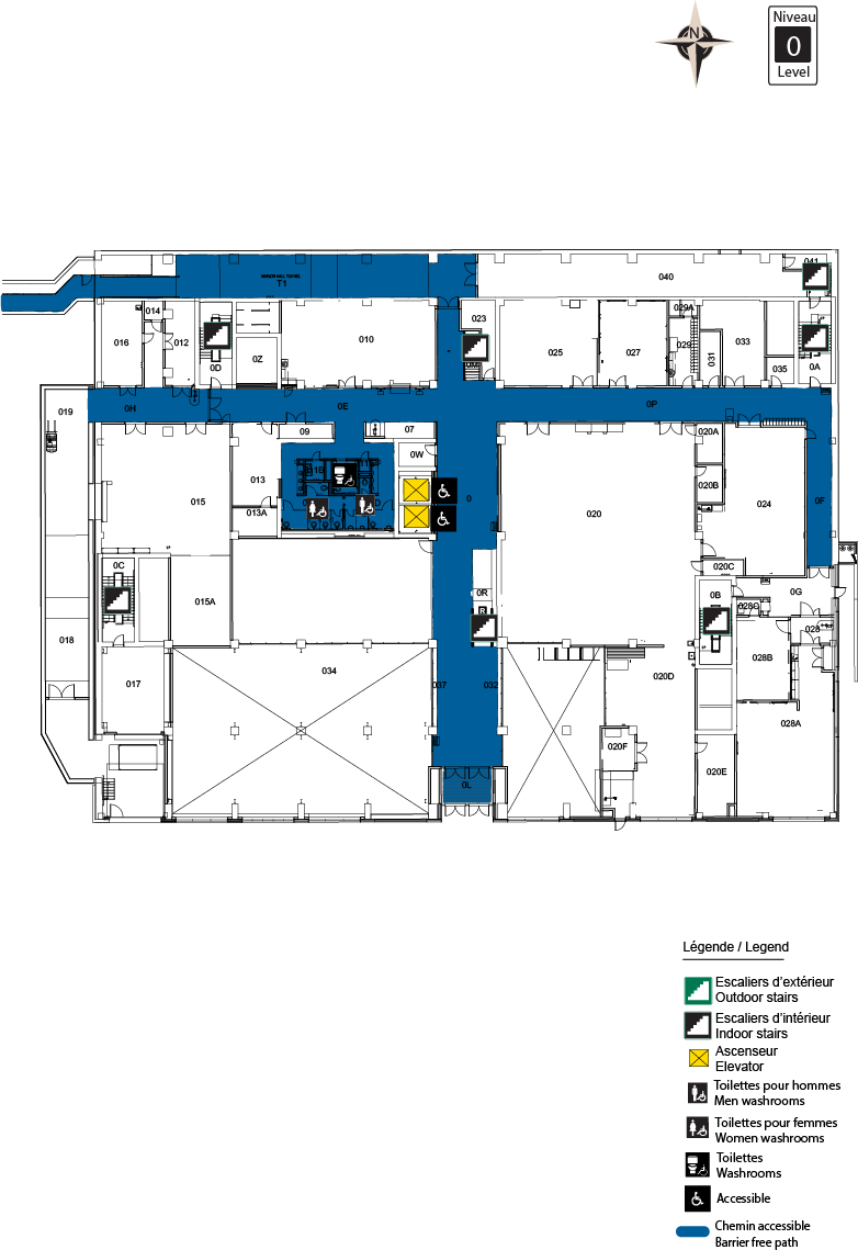 Accessible map - STEM level 0