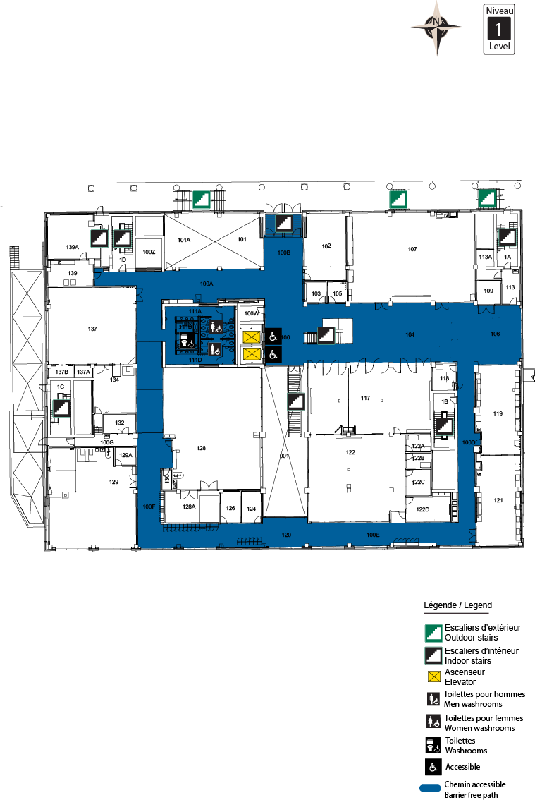 Accessible map - STEM level 1