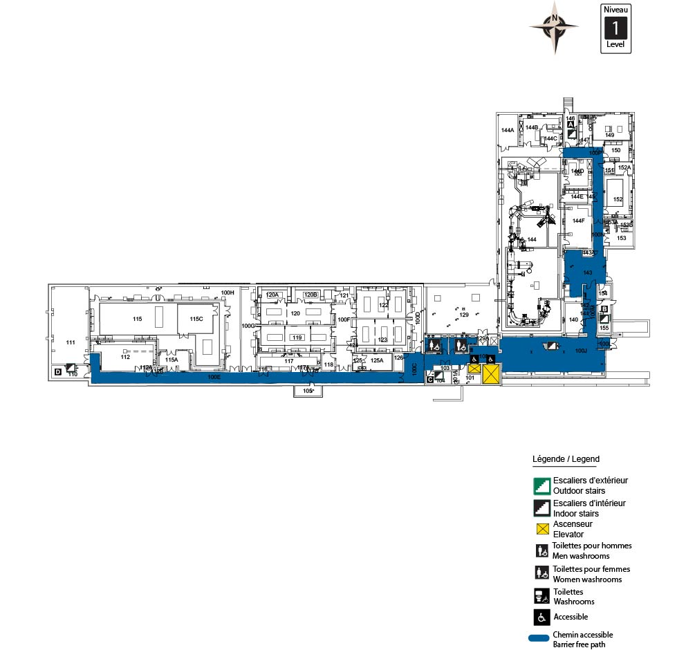 Accessible map - ARC Level 1