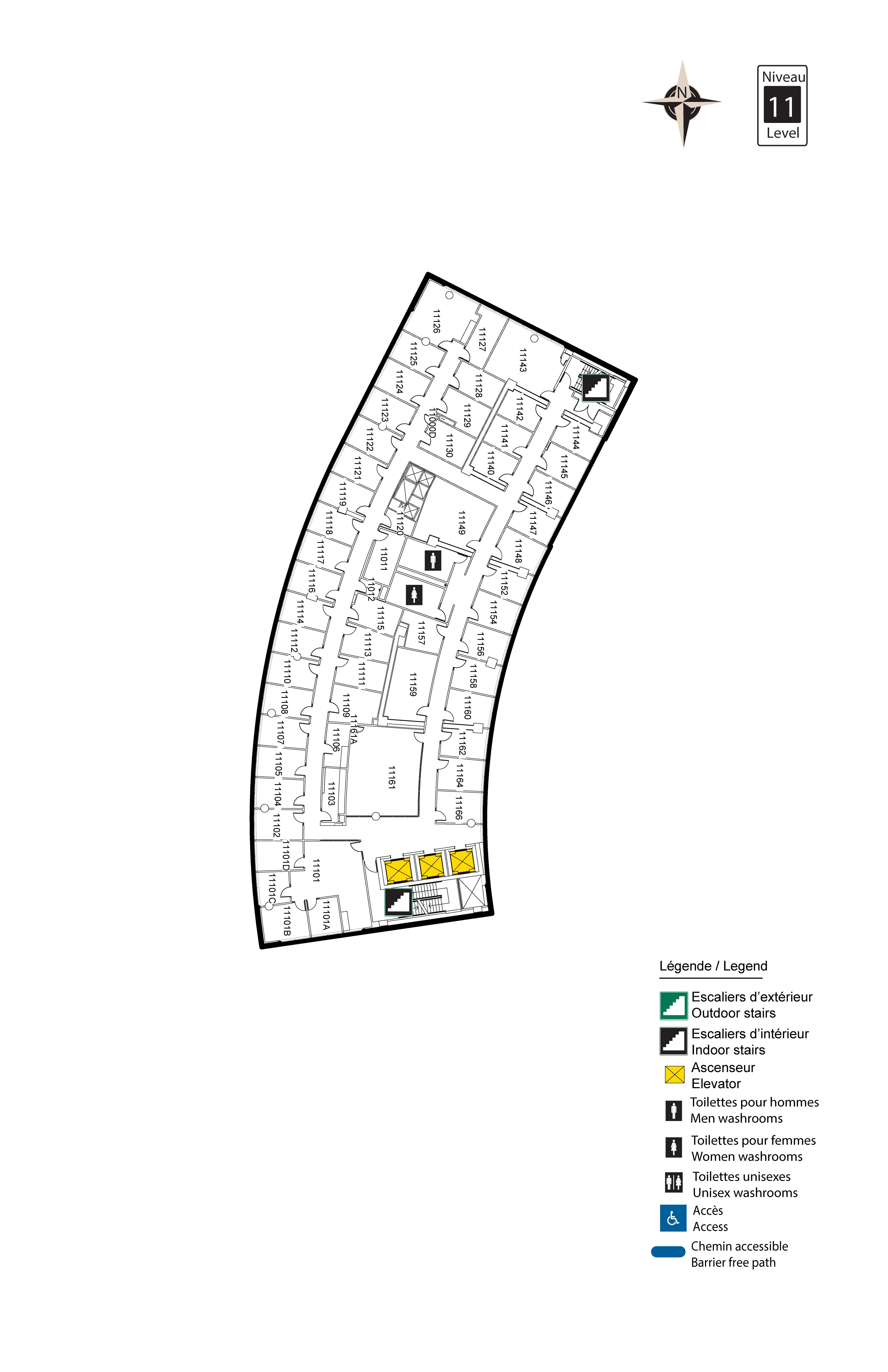Accessible map - Desmarais 11