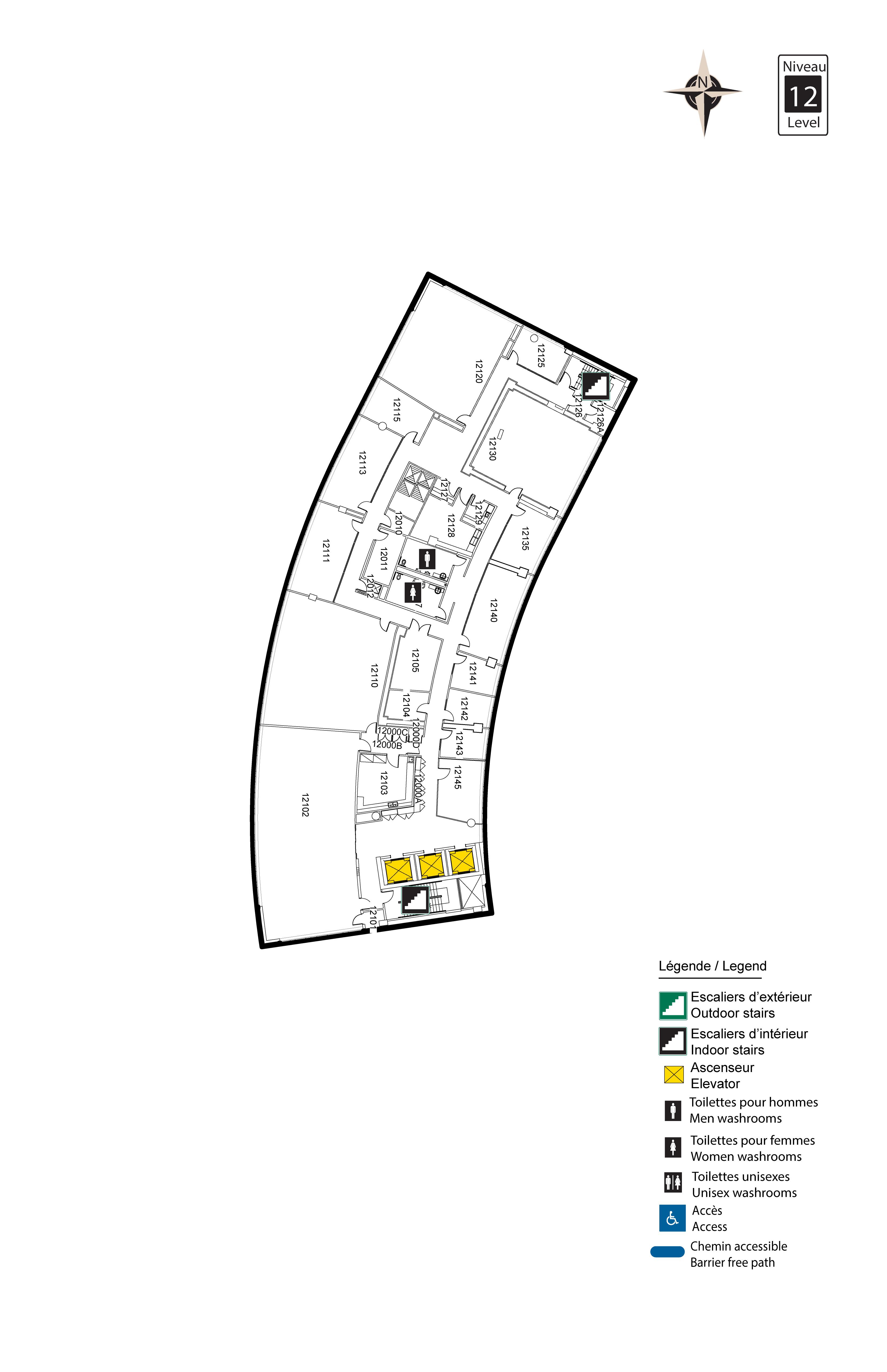 Accessible map - Desmarais 12