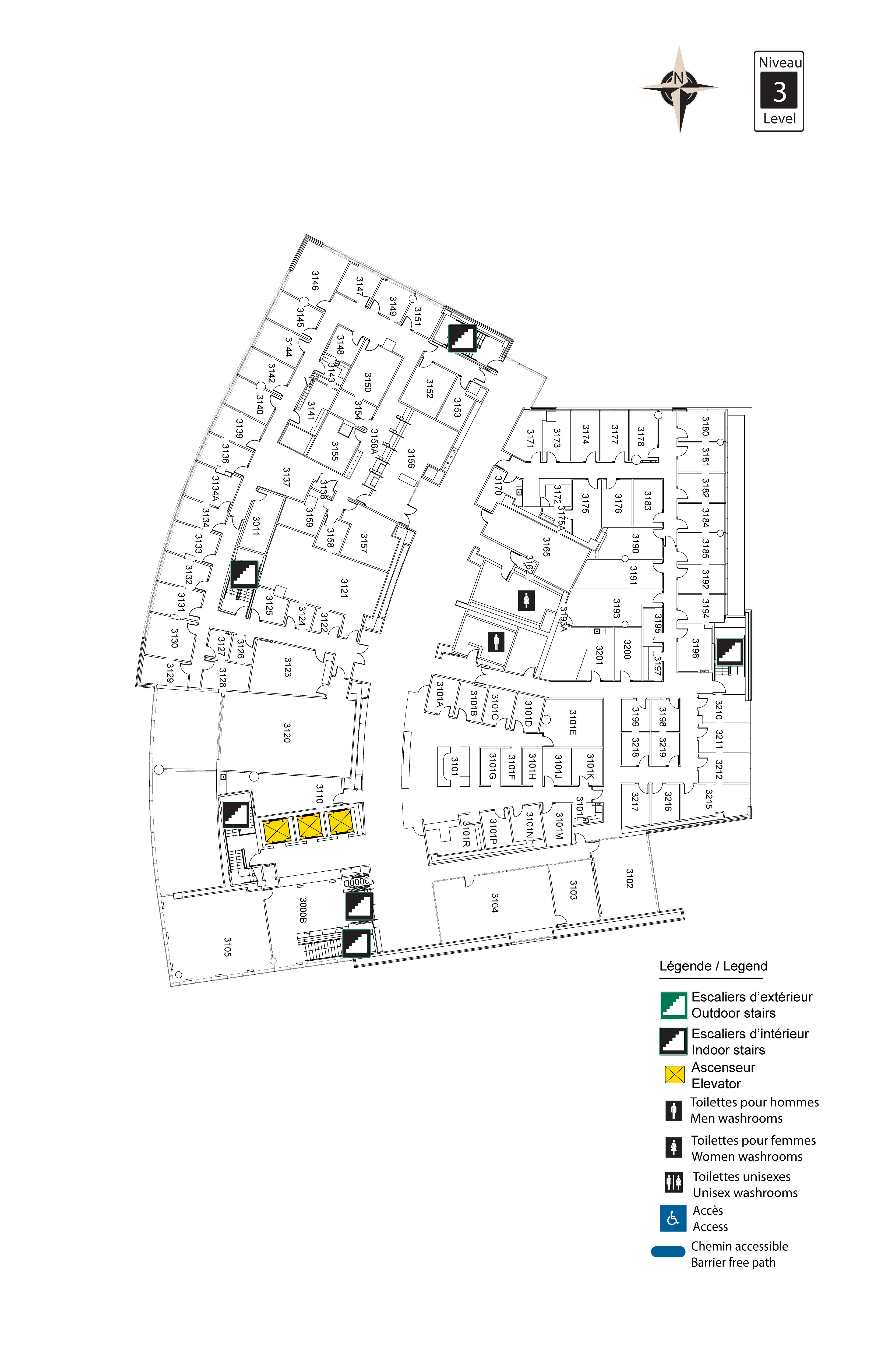 Accessible map - Desmarais 3