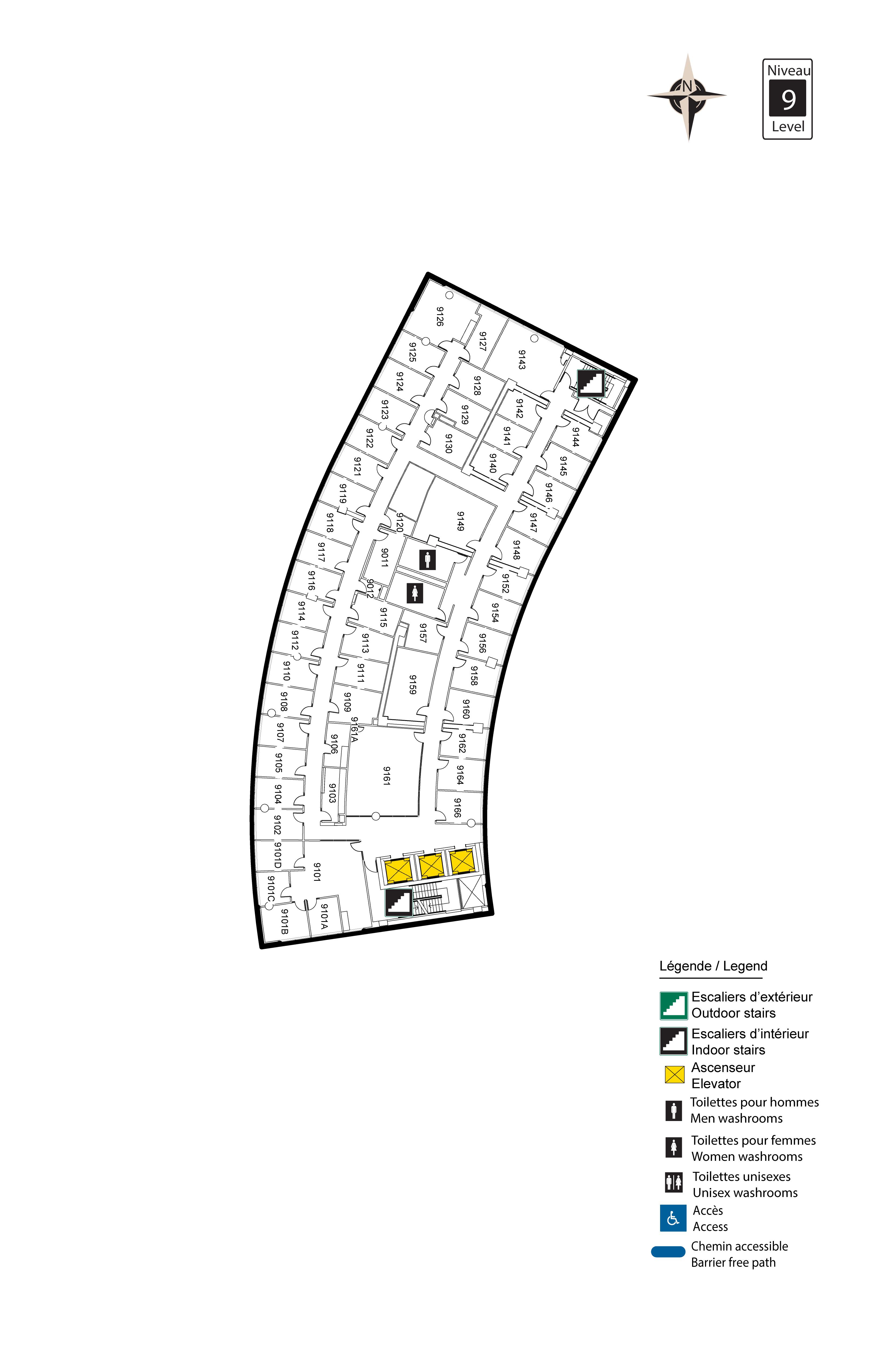 Accessible map - Desmarais 9