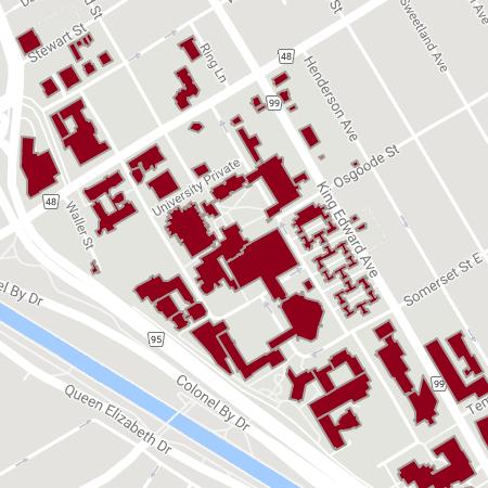 Interactive Campus Map Maps University Of Ottawa