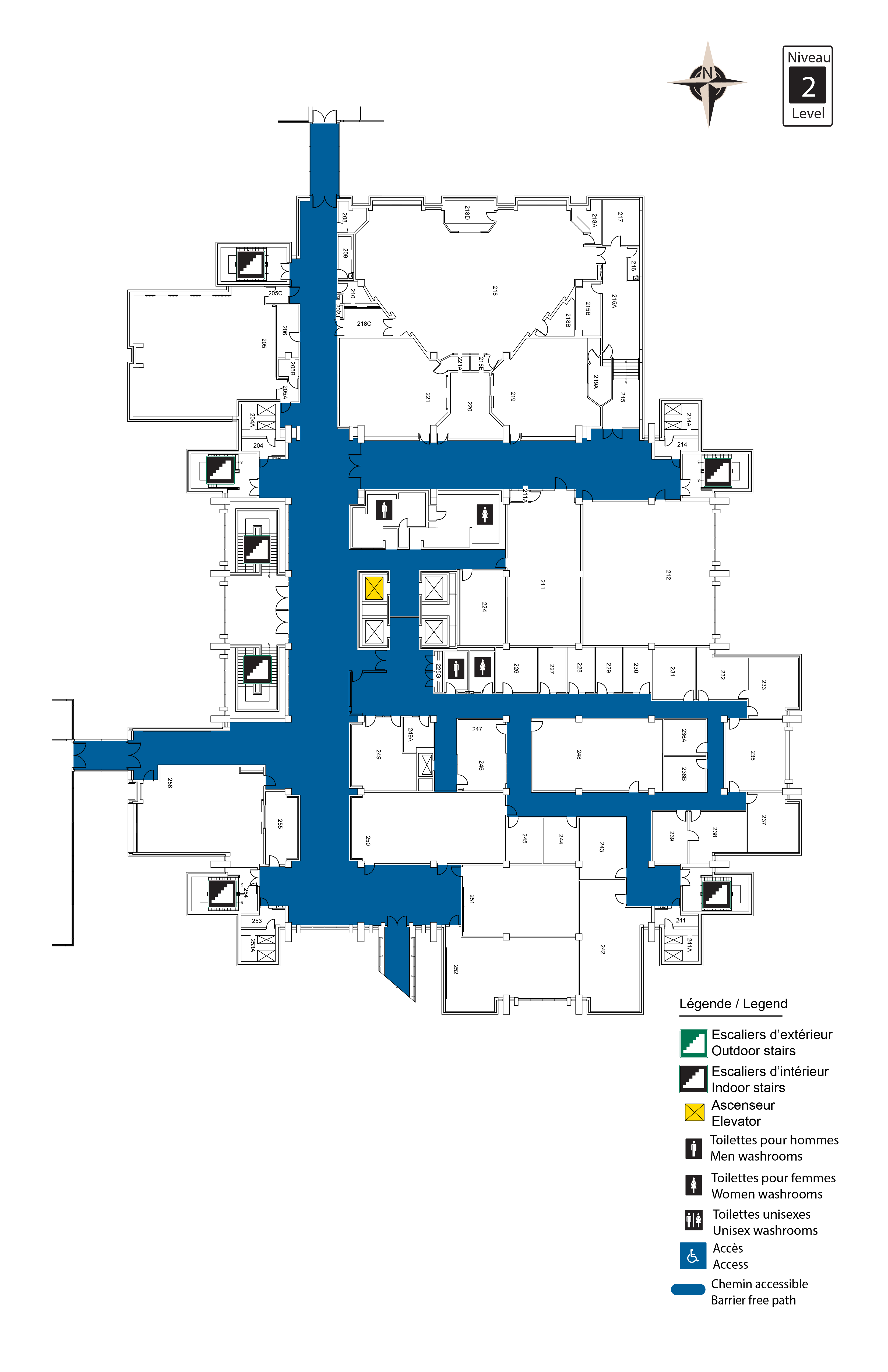 Accessible map - Morisset 2