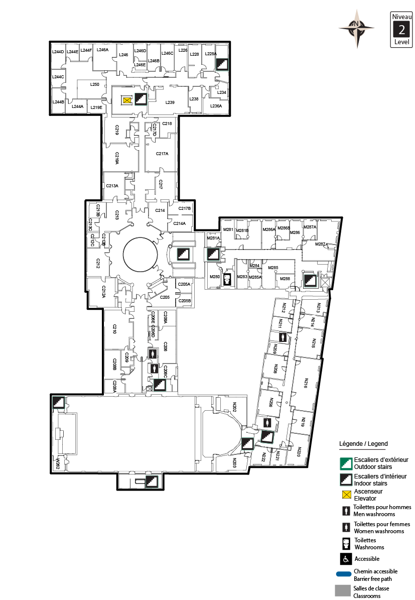 Accessible map - TBT Level 2
